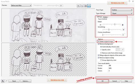 coreldraw tracing tutorial tutorial cara membuat komik dengan coreldraw photoshop