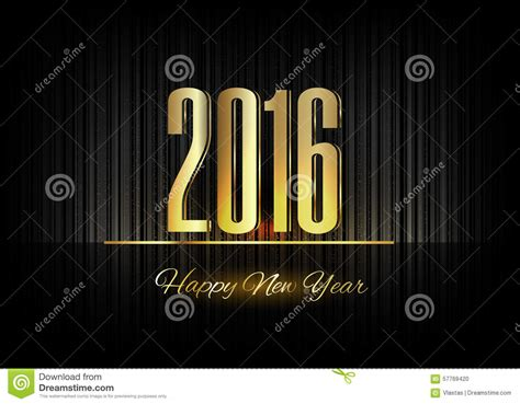 luxury new year gold new year 2016 luxury symbol stock illustration