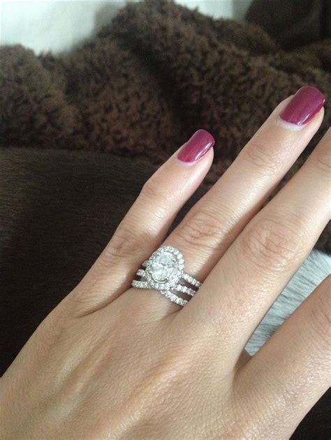 from my oval engagement ring with halo and the
