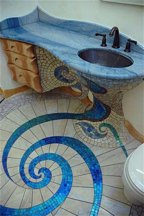 spiral floor design mosaics tile  home design