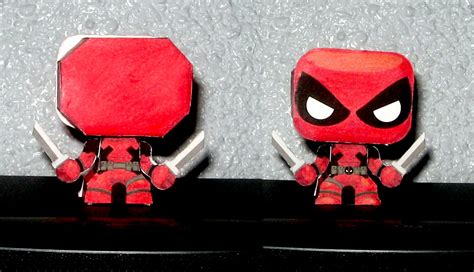 Deadpool Papercraft - papertoy deadpool chibi papercraft by valhallaasgard on