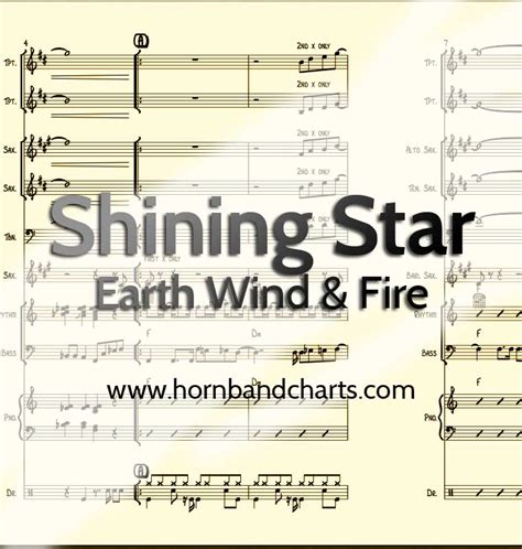 earth wind and fire horn section shining star horn chart earth wind and fire pdf download