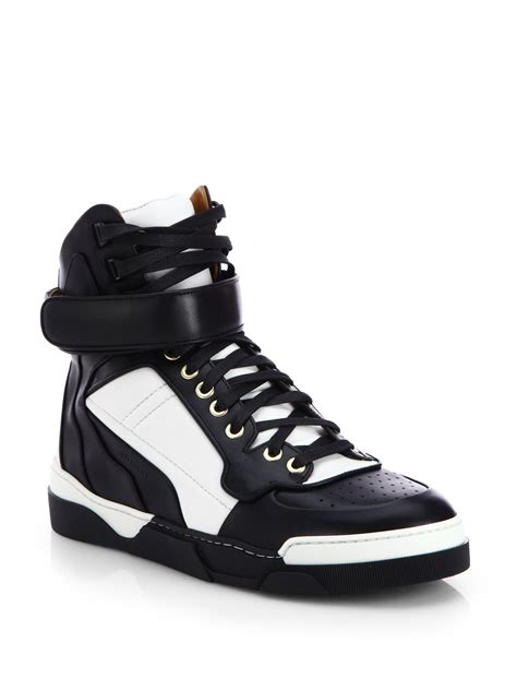 s givenchy sneakers givenchy leather hightop sneakers in white lyst