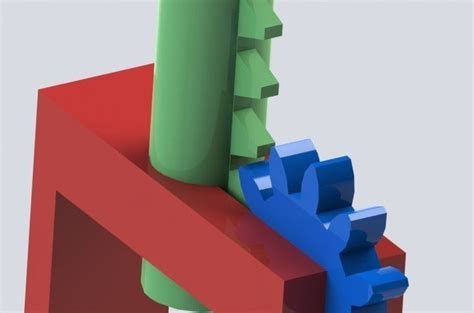 Solidworks Rack Pinion Mate by Rack Pinion Lever Free 3d Model Stl Sldprt Sldasm Slddrw