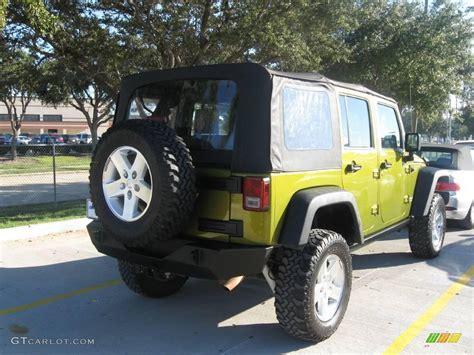 rescue green jeep rubicon 2007 rescue green metallic jeep wrangler unlimited rubicon