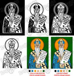 Vector image of st patrick for cutting plotter and engraving ready to