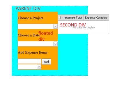 div display block divs inside inline block div does not fit parent size