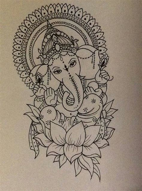 ganesh tattoo template ganesh outline tattoo www imgkid com the image kid has it
