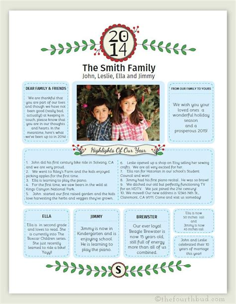 Family Christmas Letter Templates Invitation Template Letter Ideas Templates