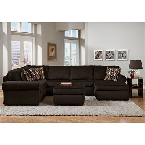 Call Value City Furniture by Salina Chocolate 3 Pc Sectional Furniture
