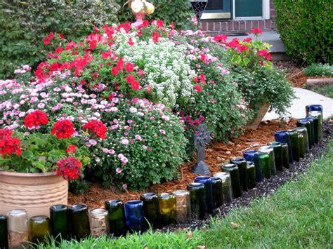 wine bottle garden wine bottle edging things i garden