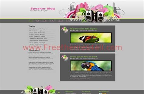 themes download css retro city music css template free download