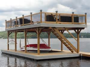 Stationary Tiny House Plans lets see your boat dock page 67 teamtalk boat