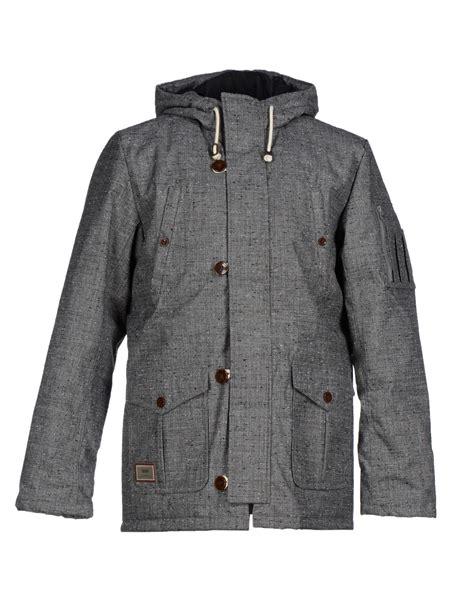 Jaket Vans Bb Blackgrey lyst vans jacket in gray for