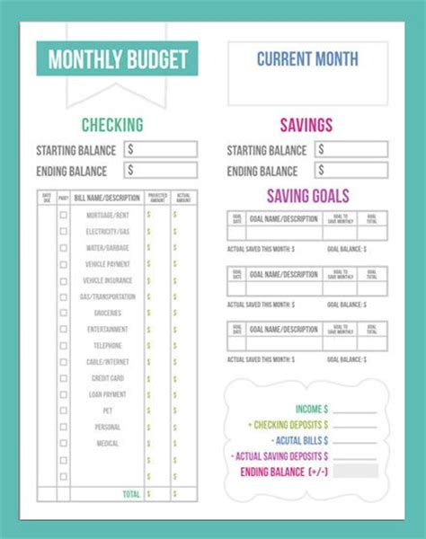 budgeting worksheets budgeting tips  worksheets