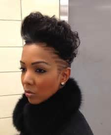 black hairstyles for shaved sides mohawk hairstyle for black woman hair styles