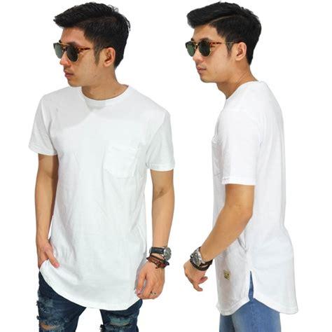 Kaos Pria Longline T Shirt Basic trend fashion pria 2019 pakaian baju pria terbaru