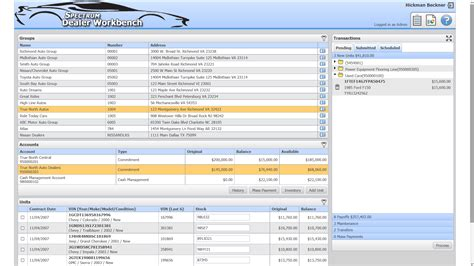 wholesale dealer floor plan software loan servicing