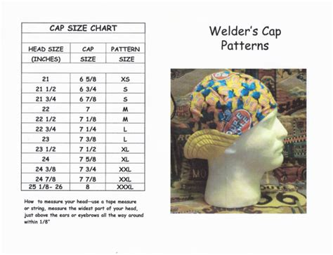 6 panel welding caps one size fits all 100 cotton pdf welder s hat cap pattern for 6 panel short crown