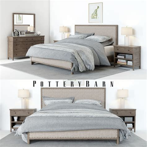 pottery barn bedroom sets marceladick com 3d pottery barn toulouse bedroom set cgtrader