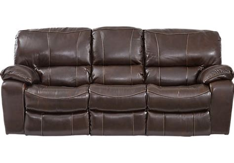 Sanderson Walnut Leather Reclining Sofa Leather Sofas