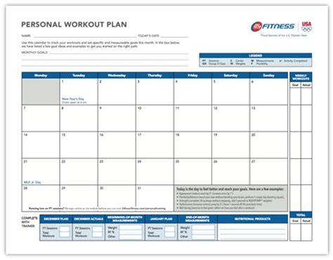 5 workout calendar templates excel xlts