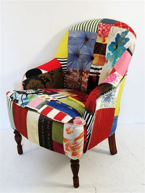 Patchwork Upholstered Furniture - flowy patchwork upholstered chair d13 in modern home
