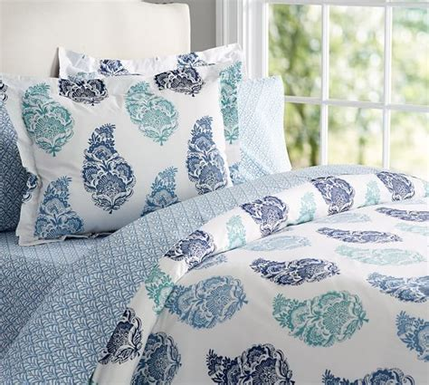 organic bedding mimi paisley organic bedding ensemble pottery barn