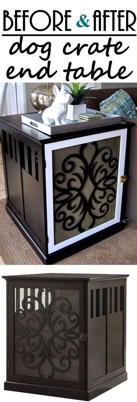 diy dog crate end studio 7 pinterest the