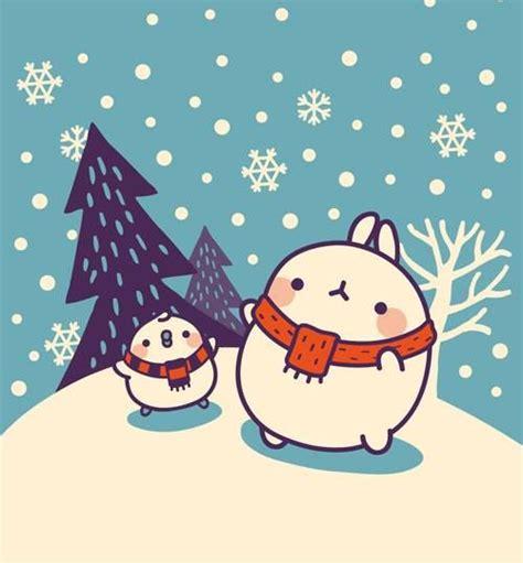 christmas wallpaper kawaii 17 best images about molang blue on pinterest kawaii