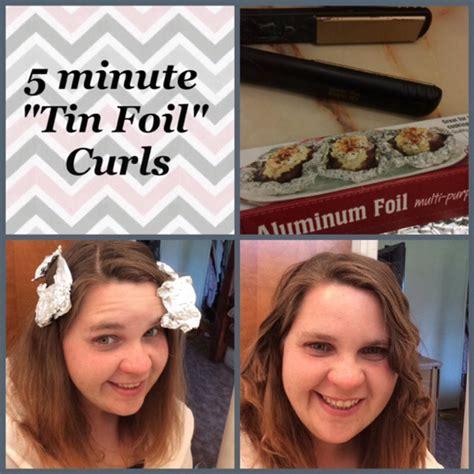 Kitchen Foil Hair 5 Minute Quot Tin Foil Quot Curls Tutorial My 30 Day Hair