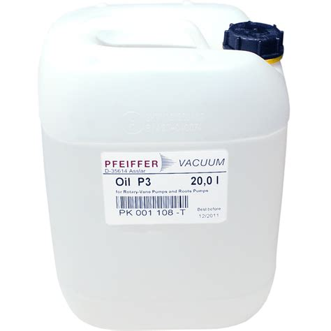 L Gallon by Pfeiffer P3 Mineral For Rotary Vane Vacuum Pumps 20