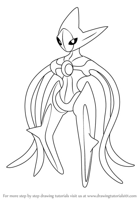 Deoxys Drawing learn how to draw deoxys from step by