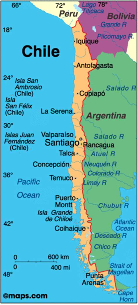 south america map chile gearhartlatinamerica chile geography