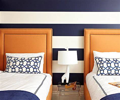 navy blue and orange bedroom from navy to aqua summer decor in shades of blue