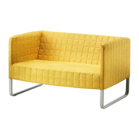 low couch ikea knopparp loveseat bright yellow ikea