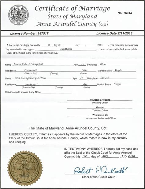 Maryland Marriage Records Maryland Marriage Certificate