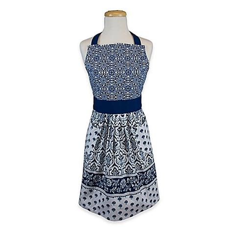 Blue Apron Gift Card Bed Bath And Beyond - ikat apron in blue bed bath beyond
