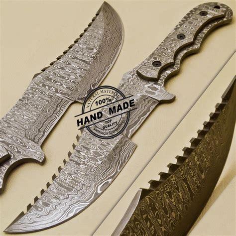 Handmade Custom - damascus tracker knife custom handmade damascus steel