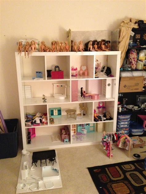 diy barbie house diy barbie house from expedit shelves doll house