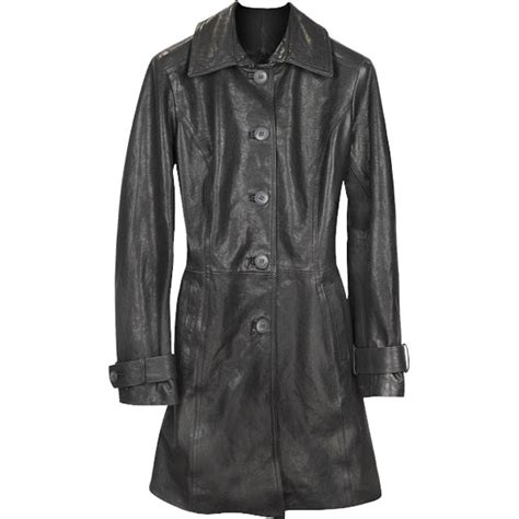 Belted Sleeve Trench Coat belted sleeves trench leather coat leather jackets usa