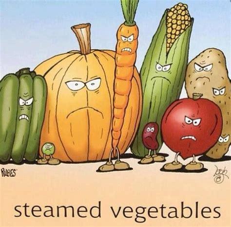 Gardening Puns Steamed Vegetables Vegan Humor