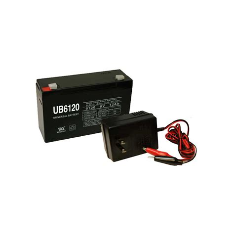 6v 12ah battery charger 6v 12ah sla battery and remington charger combo pack ebay