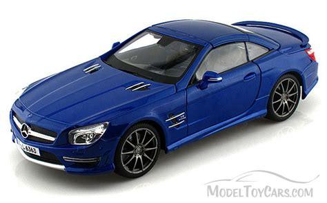Diecast Blue Mercedes mercedes sl 63 amg blue maisto premiere 36199 1 18 scale diecast model car