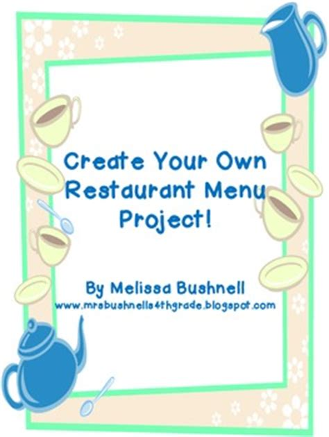 design your cafe online create your own restaurant menu by classroom imagination