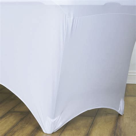 elastic tablecloths for rectangular 24 pcs 4 ft rectangle spandex stretch covers fitted