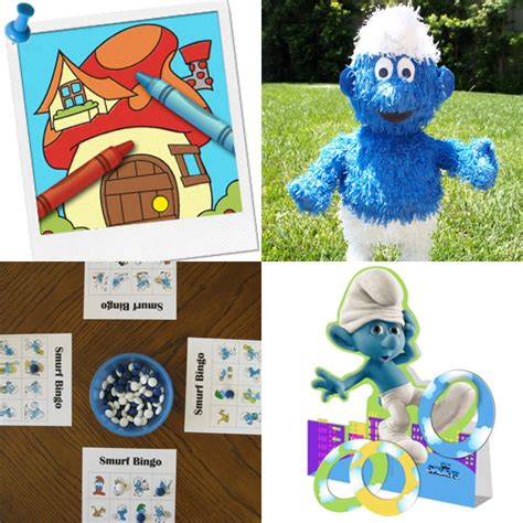 smurfs theme decorations smurfs and activities smurftastic how to