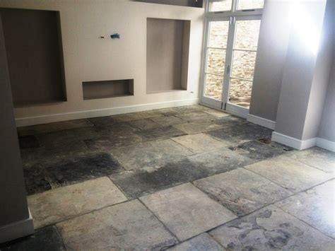 Kitchen Tile Floor Scrubber Restoration Of An Extremely Yorkstone Tiled Floor In