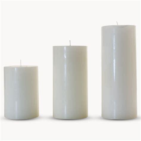 White Candles White Pillar Candles