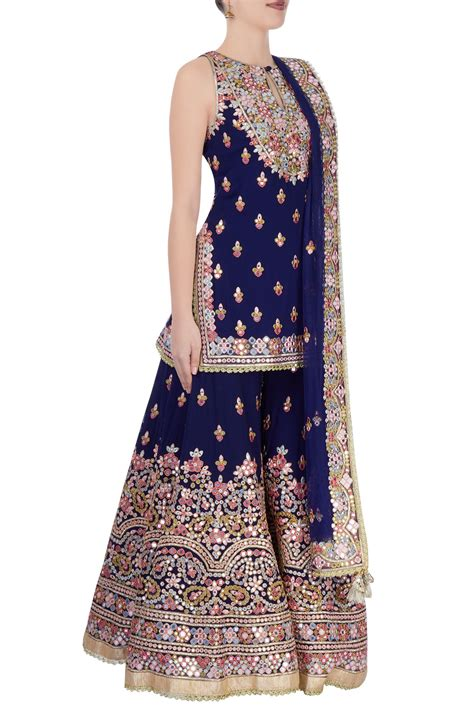 Bridesmaid Dresses Aza - buy royal blue kurta sharara set by tamanna punjabi kapoor
